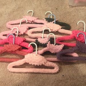 Other - Crochet covered hangers